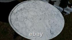 Victorian Walnut Oval Marble Top Parlor Table c late1800s