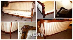Vintage American Federal Style Mahogany Sheraton Sofa circa mid-late 1800s
