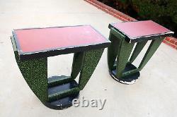 Vintage Art Deco tables, pair, late 1930s, fair condition $600