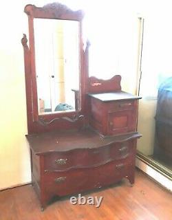 Vintage Dresser Vanity, Makeup Table, Beautiful. Pre century late 1800s
