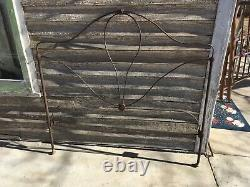 Vintage Victorian Cast Metal Full Bed Frame Only Late 1800's early 1900's