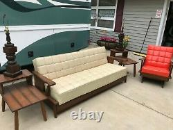 Vintage late 50's early 60's living room furniture set Convertible Sofa