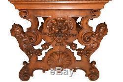 Wonderful Antique French Renaissance Desk, Oak, Late 19th Century