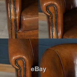 Wonderful Late 20th Century Pair Of Dutch Sheepskin Leather Club Chairs